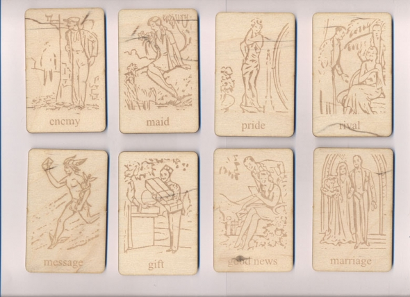 Fortune Teller Card, Art Deco $11 1